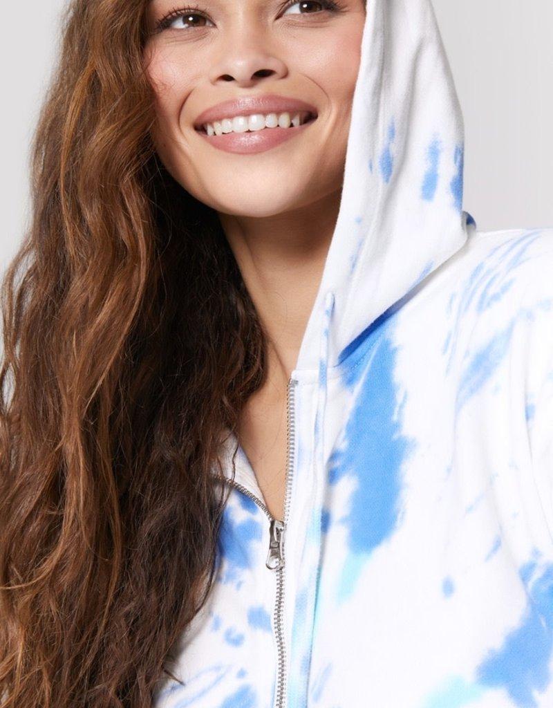 spiritual gangster sunshine telullah zip hoodie tie dye