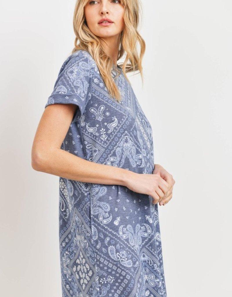 wildflower bandanna print dress