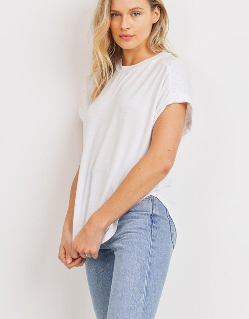 wildflower soft short sleeve top