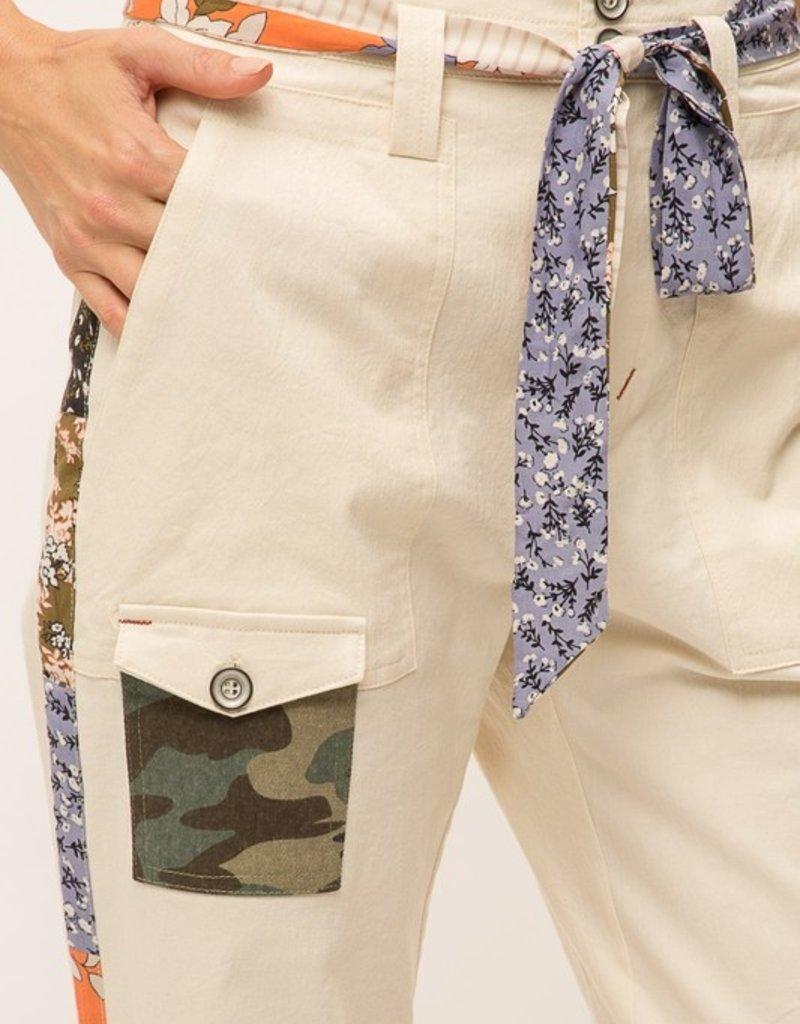 wildflower side stripe utility pant
