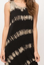 wildflower tie dye sleeveless dress