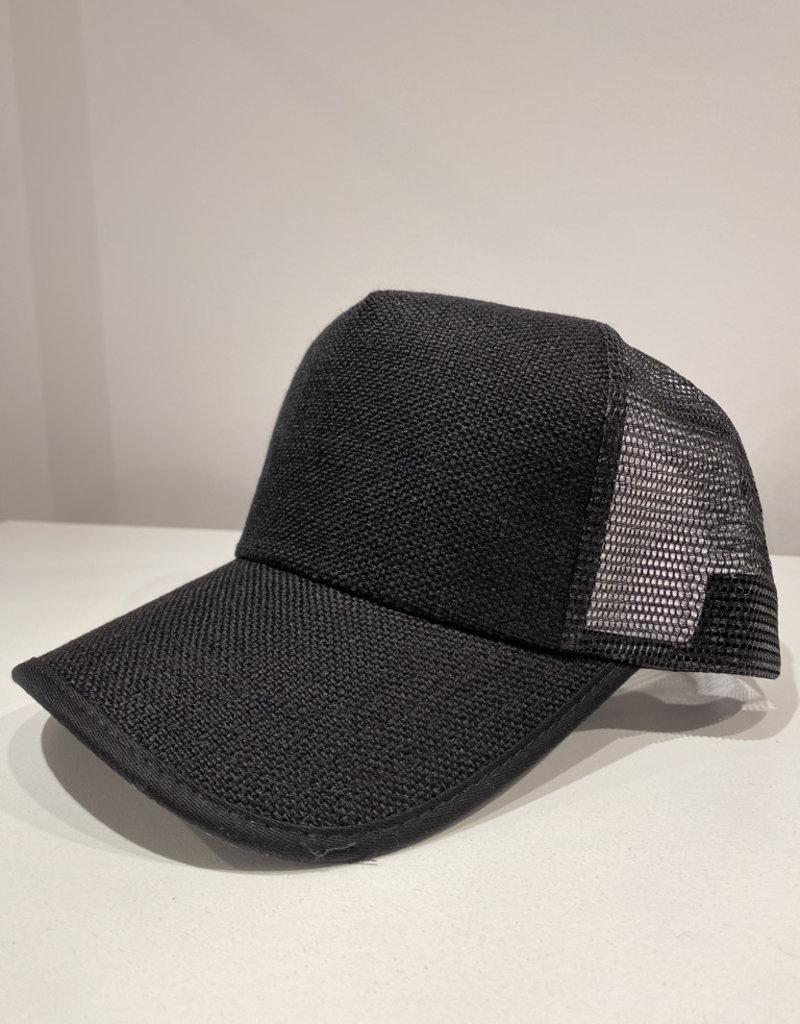 wildflower straw trucker hat