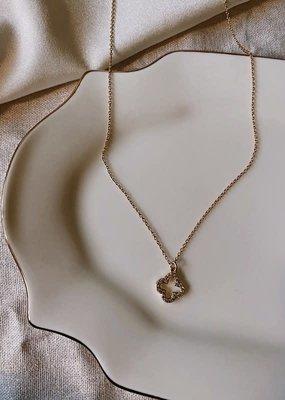 clover pendant necklace - 14k gold filled