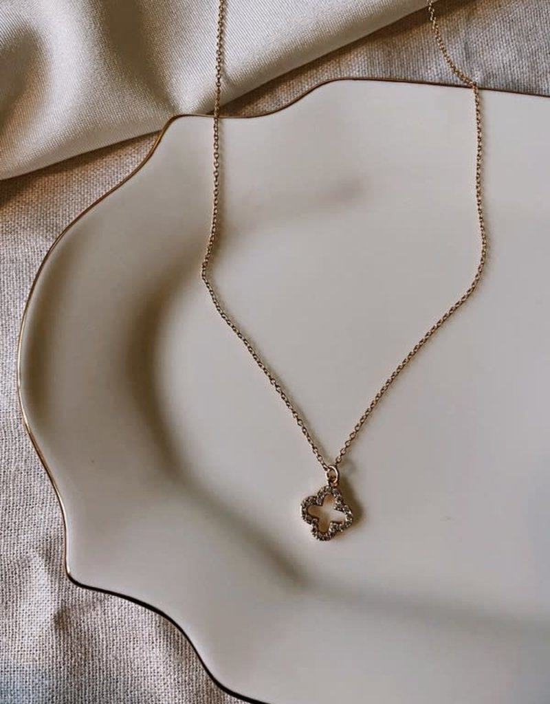 Stardust Jewellery clover pendant necklace - 14k gold filled