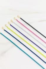 Stardust Jewellery Rainbow Hamsa Necklace w/Cubic zirconia & enamel coloured chain Charteuse