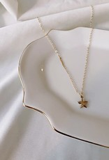 Stardust Jewellery Puffy Star pendant necklace - 14k gold filled , 16-18 inch length