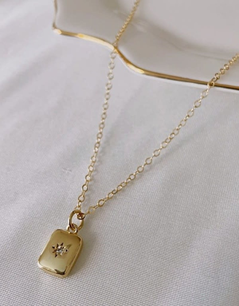 northstar cushin pendant  - 14k gold filled, 16 & 18 inch