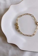 keys and lock bracelet 6.5 inch - 14k gold filled