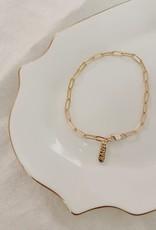 paper clip love bracelet - 14k gold filled
