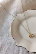 handcrafted butterfly charm necklace - gold filled 14k, 18 inch length