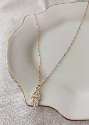Stardust Jewellery hamsa hand w/opal pendant - 14k gold filled, 18 inch