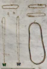 Stardust Jewellery mini butterfly stud earrings - 14k gold filled