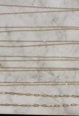 Stardust Jewellery paperclip long necklace 14k gold filled