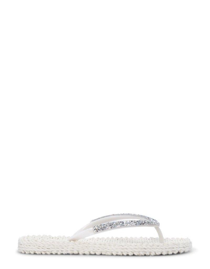 Ilse Jacobsen Crystal trim flip flop