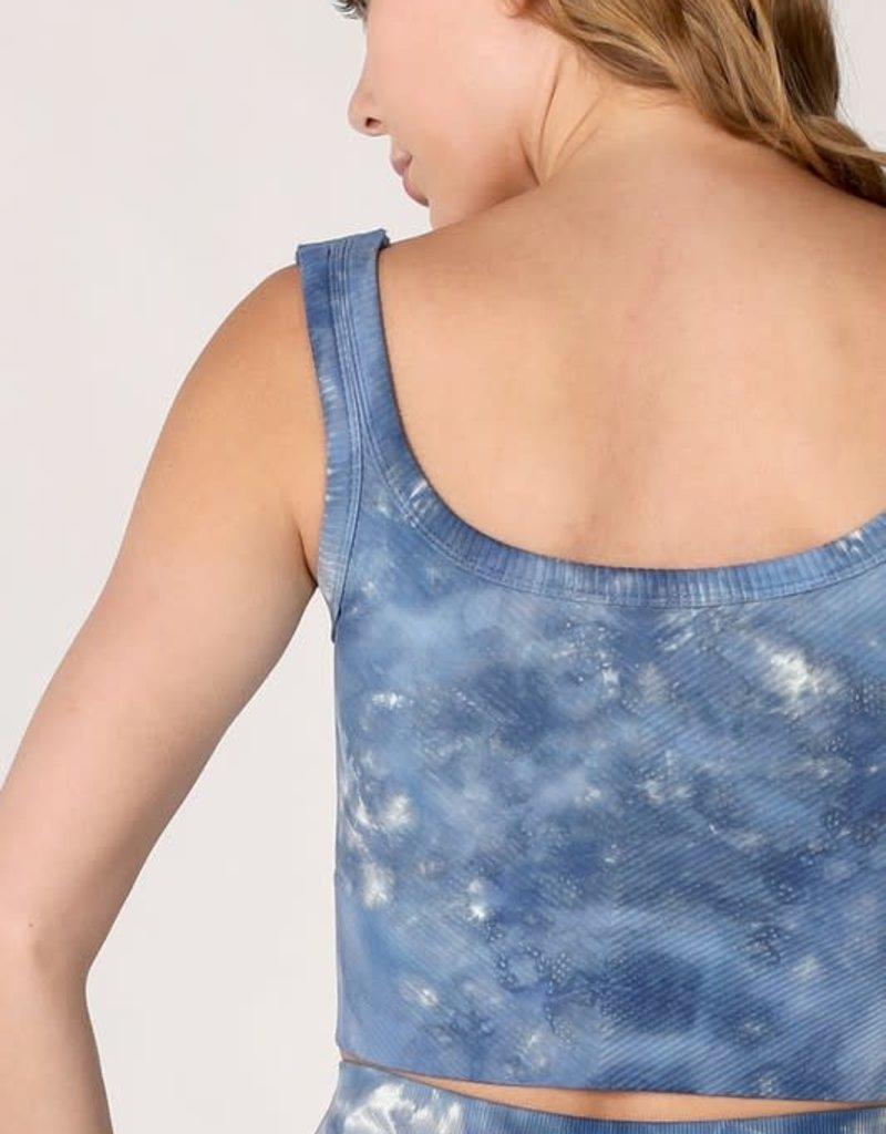 wildflower tie dye seamless sports bra