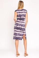 wildflower short sleeve tie dye midi dress