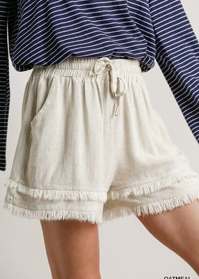 wildflower Frayed Hem Shorts with Pockets