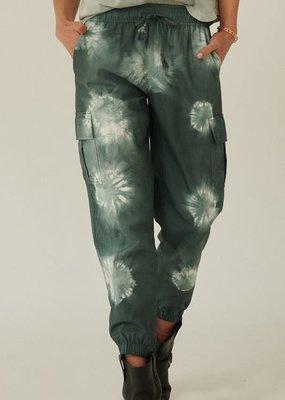 wildflower Tie-Dye Drawstring Cargo Jogger Pants