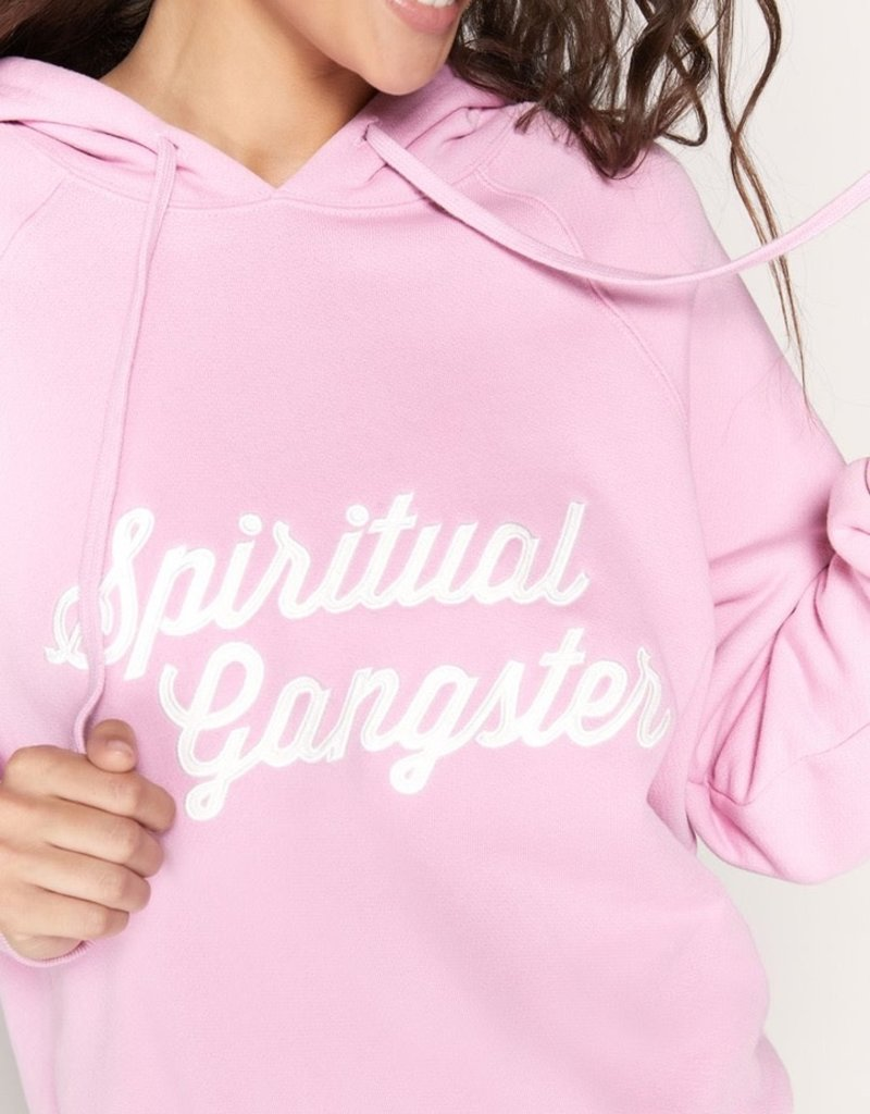 spiritual gangster sg script throwback raglan hoodie