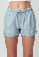 wildflower patch pocket tencel shorts