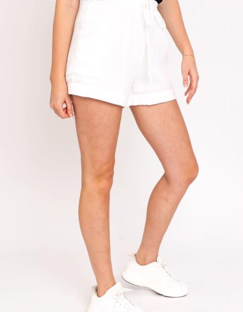wildflower gauze cotton cuffed shorts