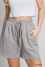 wildflower washed cotton french terry casual shorts