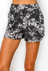 wildflower tie dye french terry shorts