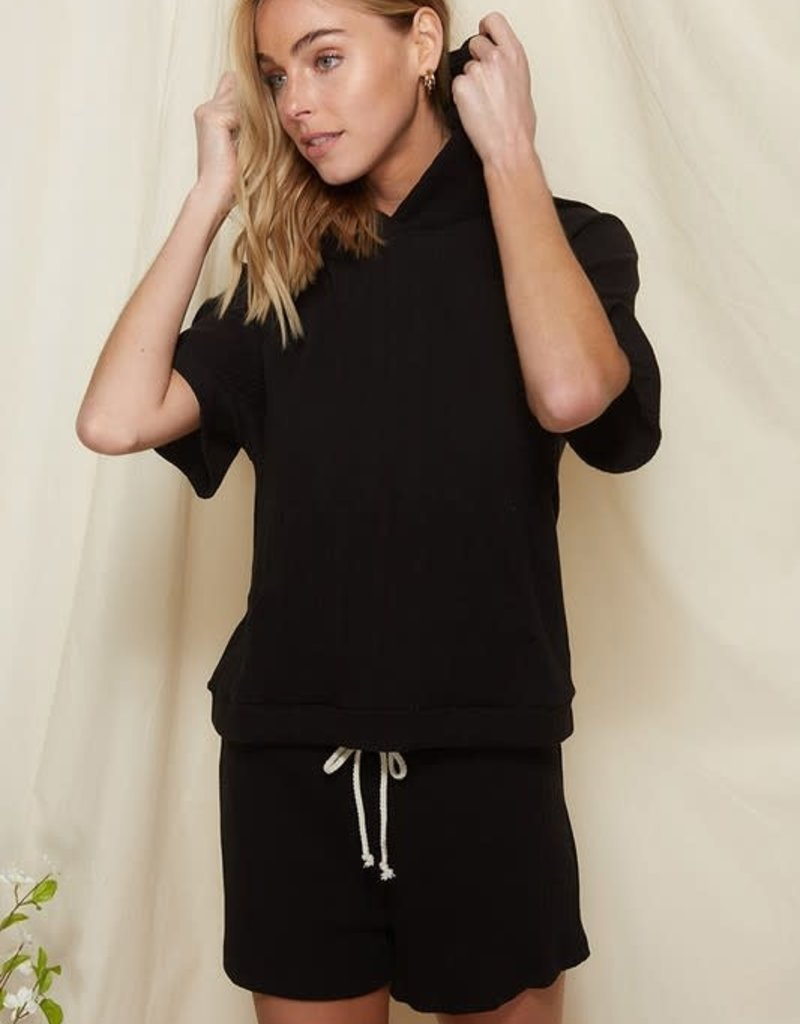wildflower ribbed hoody and shorts set