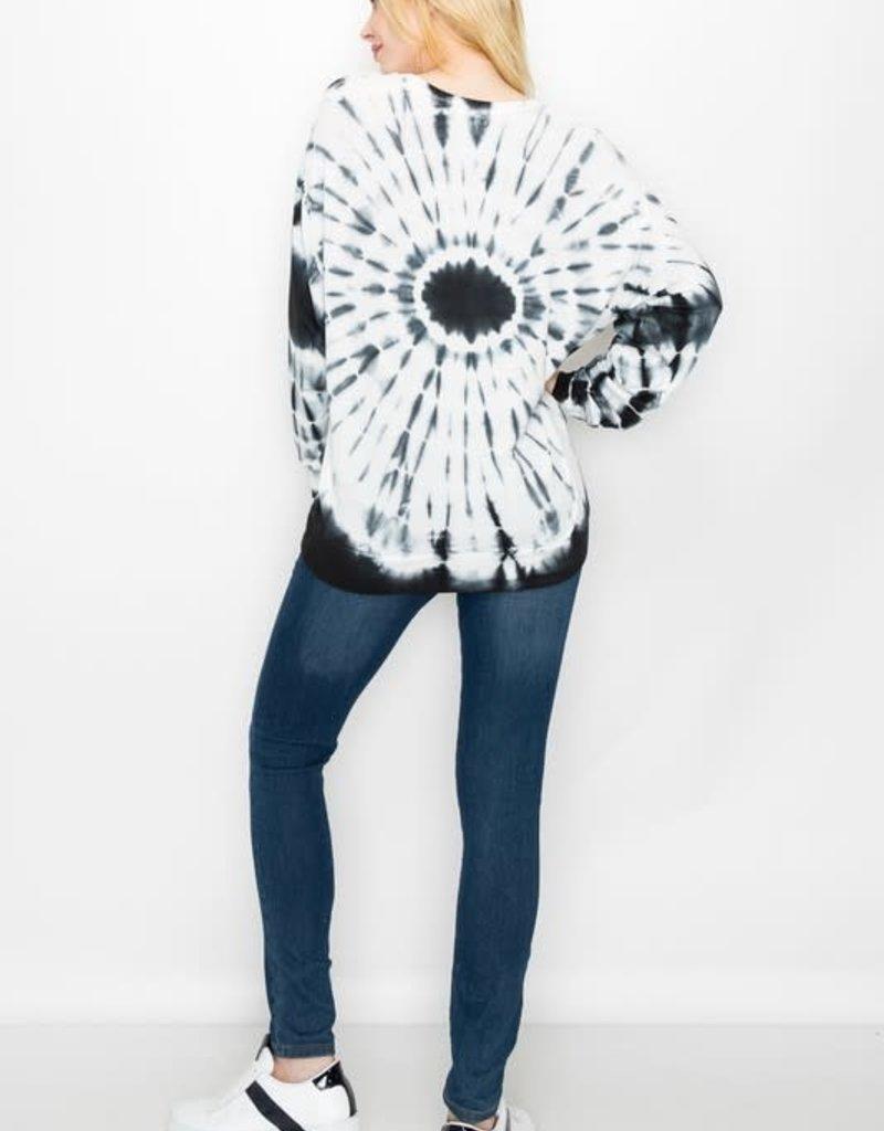 wildflower tie dye swirl viscose sweatshirt