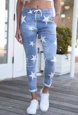 wildflower all over stars crinkle jogger