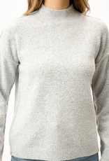 stardust Mock Neck Drop Shoulder Knit