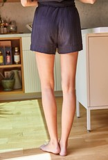 wildflower Cotton Woven Gauze Elastic Shorts with side Pockets