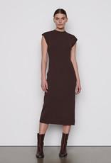 frame Cap Sleeve Rib Dress