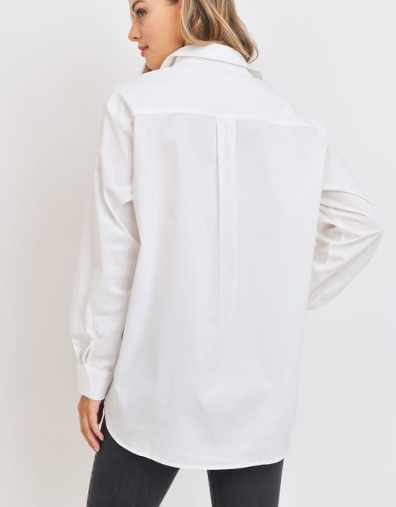stardust Loose Fit Long Sleeves Button Down Boyfriend Shirt