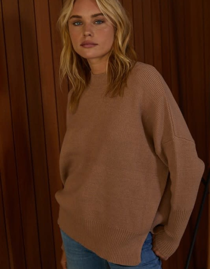 stardust High Neck Chunky Knit Over Sized Sweater