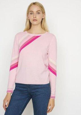 Cocoa Cashmere London Multi Stripe Pink Cashmere Jumper
