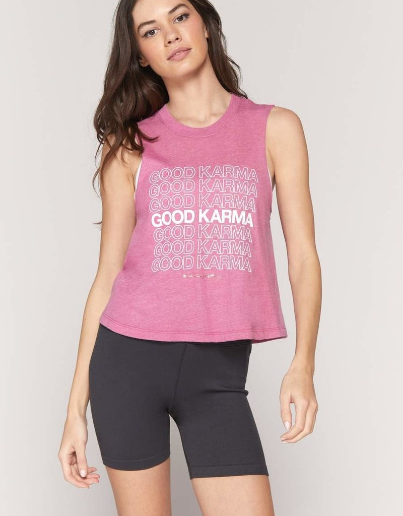 spiritual gangster good karma crop tank