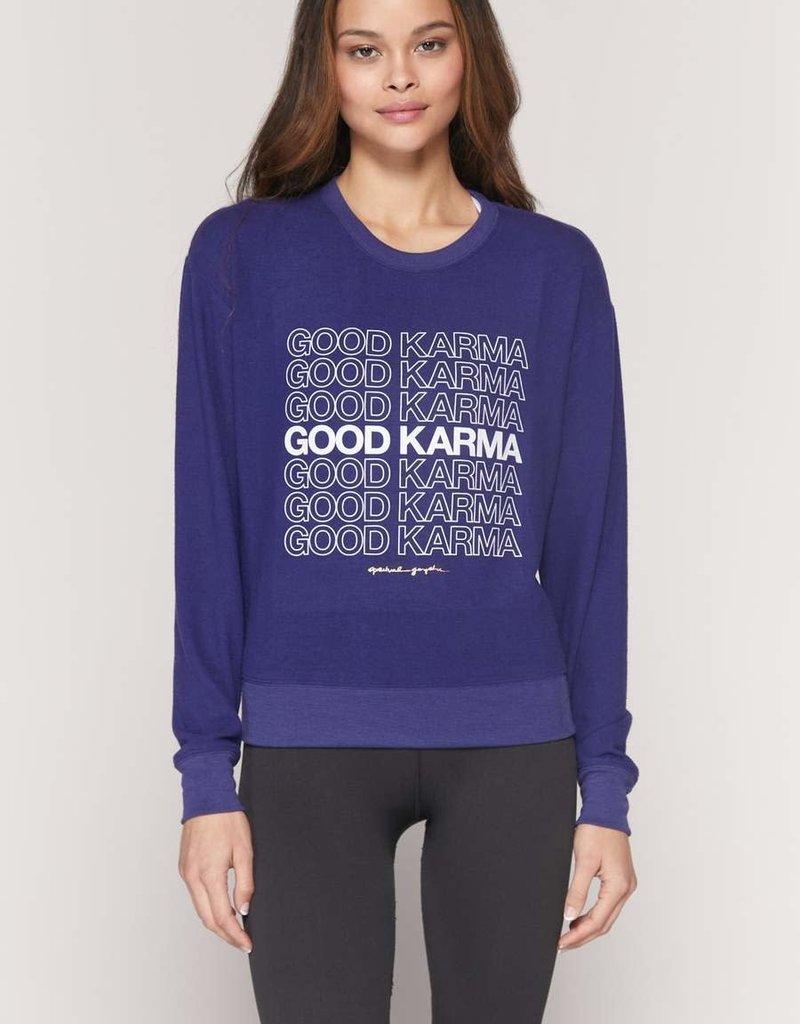 spiritual gangster good karma crew neck savasana sweatshirt