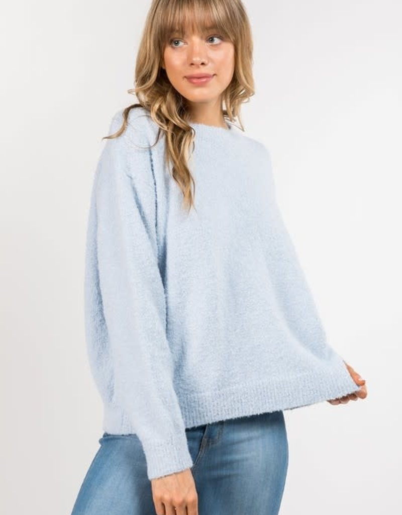 stardust Fuzzy Knit Pullover