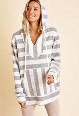 stardust Striped Kangaroo Pocket Sweater
