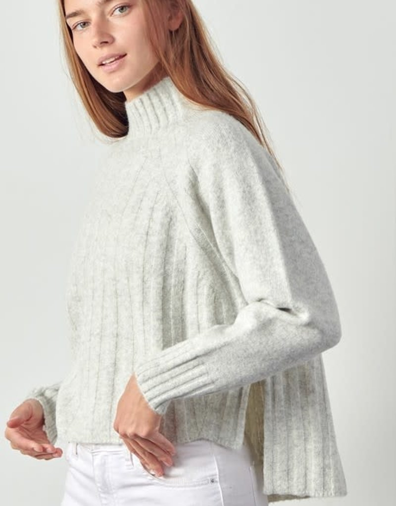 stardust Ribbed Mock Neck Sweater
