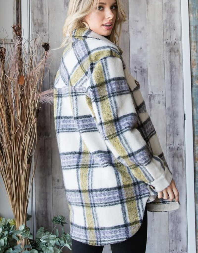 stardust Thick Cozy Button Down Shacket Jacket