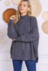 stardust Front Cable knit Sweater