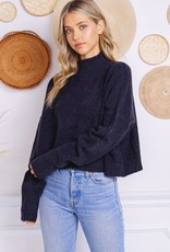 stardust Soft Cropped Mock Sweater