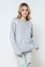 stardust Star Print Crewneck Sweater