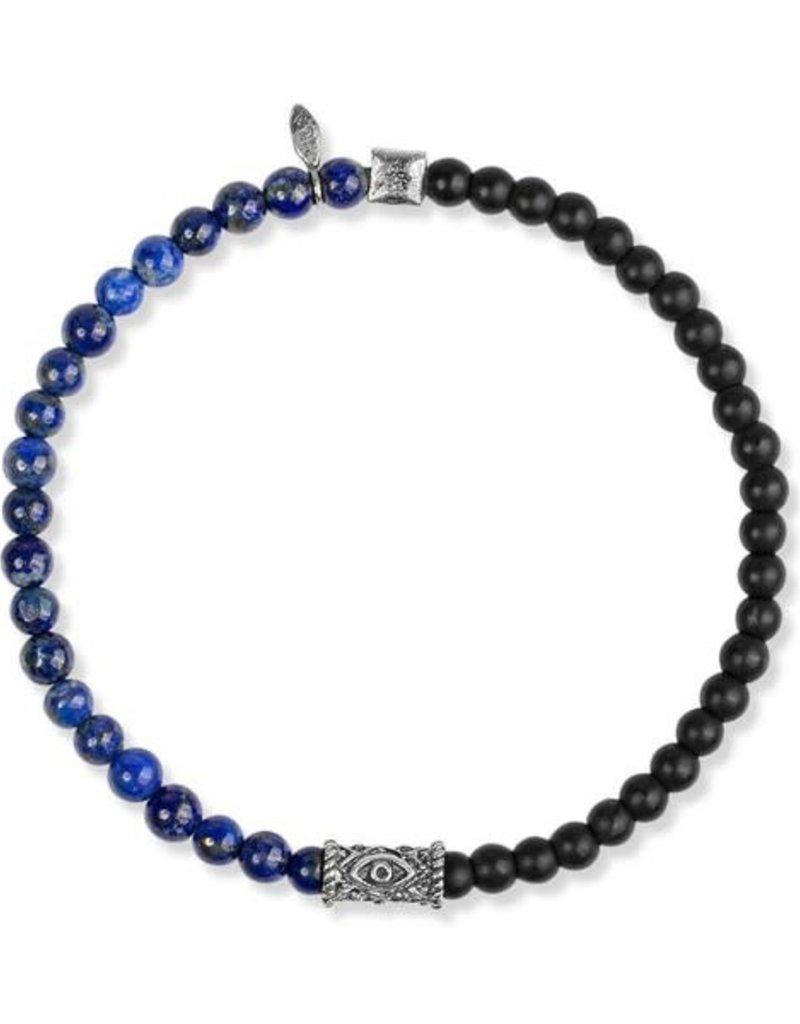 karma & luck Lapis Lazuli Onyx Evil Eye Bracelet