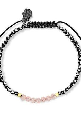 karma & luck Hematite Rose Quartz Bracelet