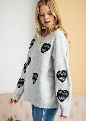stardust Love Heart Detail Sweater