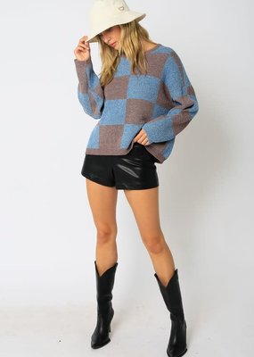 stardust Large Checkered Sweater