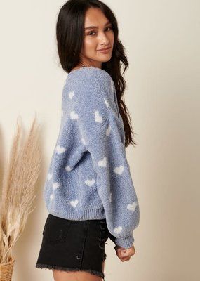 stardust Crop Heart Sweater